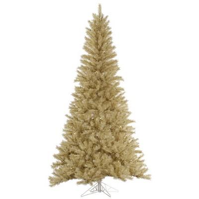 Vickerman White/Gold Tinsel Artificial Christmas Tree