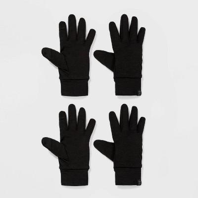 Girls' 2pk Spacedye Running Gloves - All in Motion™ Black