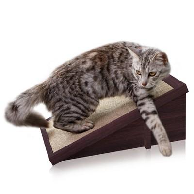 Way Basics Eco Incline Cat Scratcher - Espresso Brown