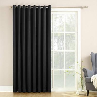 """84""""x100"""" Seymour Extra Wide Patio Door Room Darkening Curtain Panels - Sun Zero"""