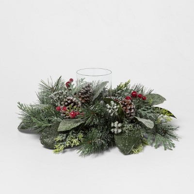 Candle Holder Pine Cone with Red Berry - Threshold™