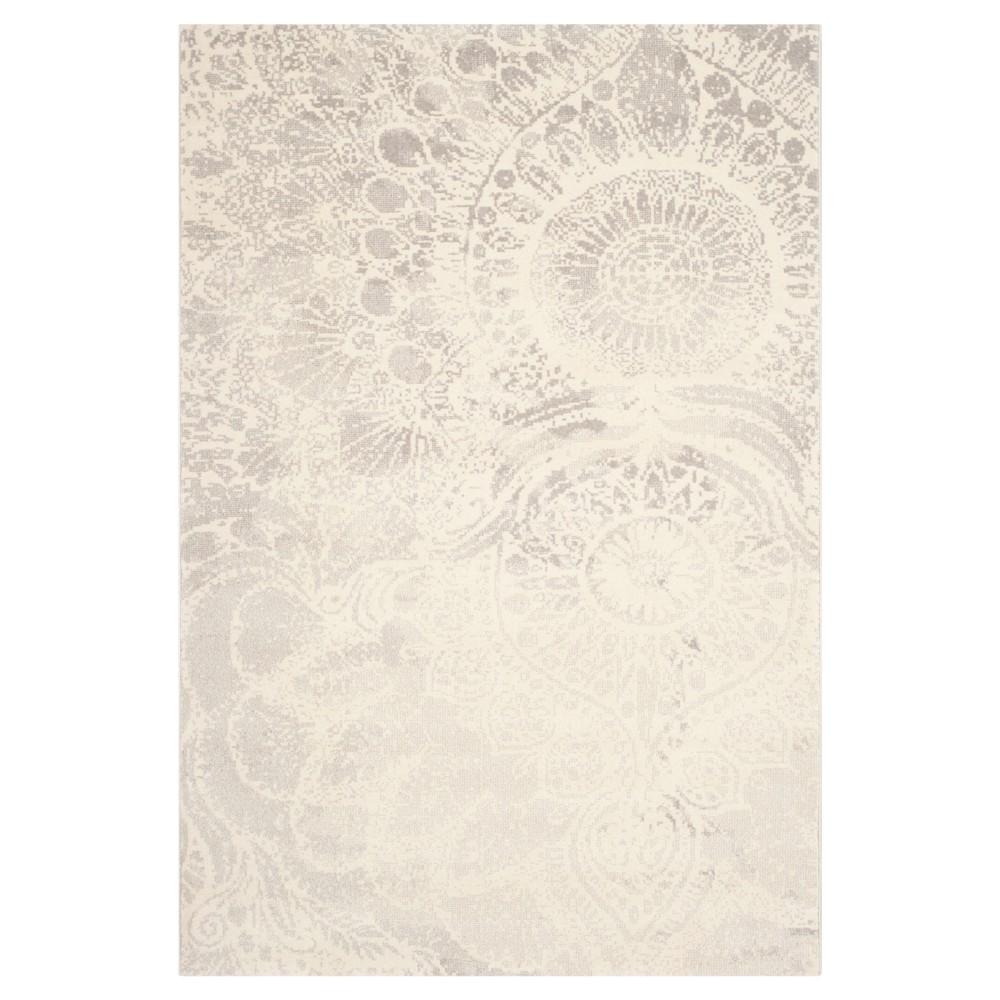 Rosalia Area Rug - Light Gray / Ivory ( 5' 3