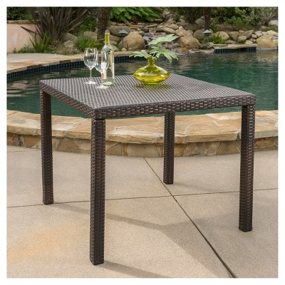 Rhode Island Square Wicker Dining Table   Multibrown   Christopher Knight  Home : Target