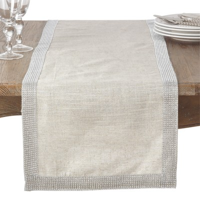 Natural Solid Table Runner - Saro Lifestyle