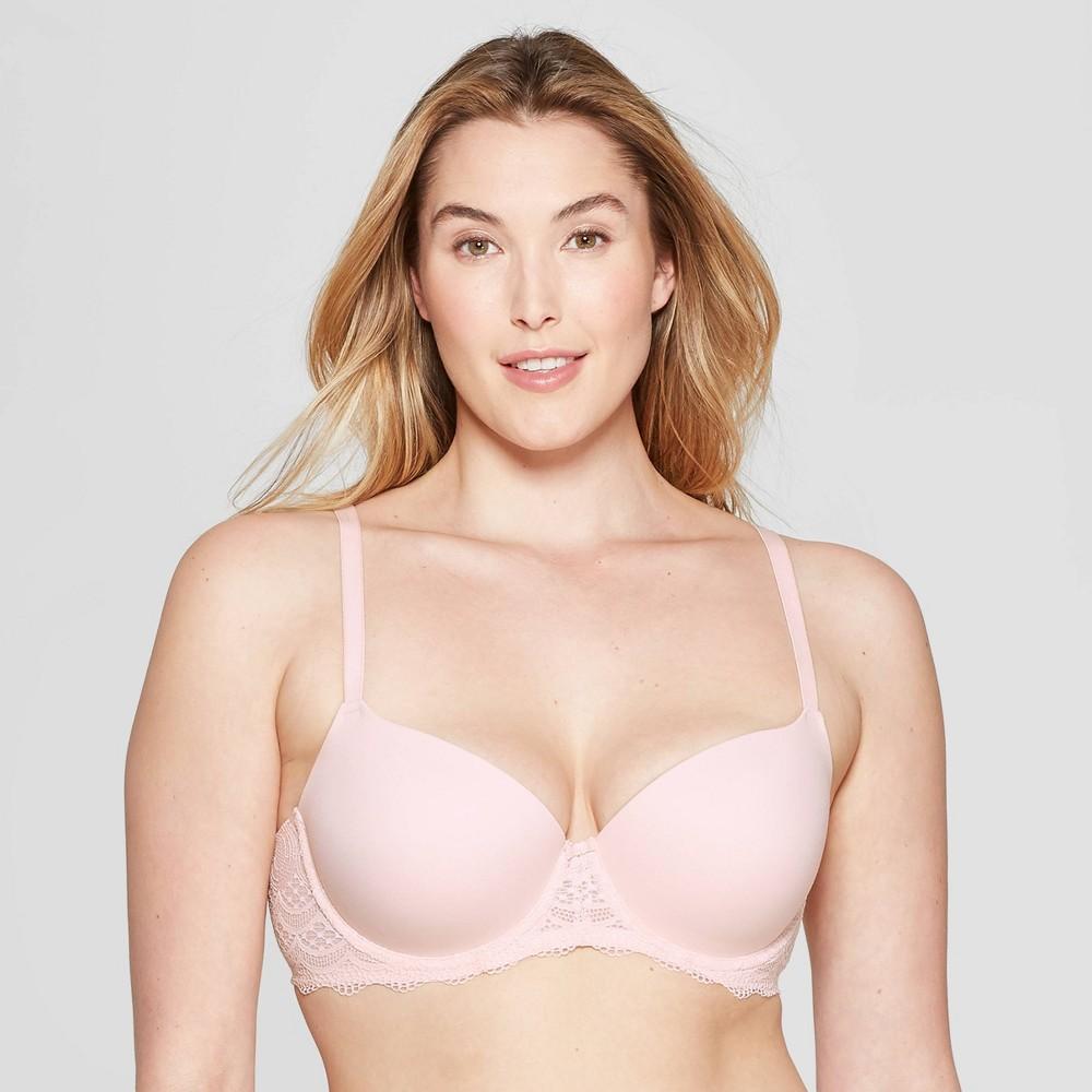 bde70357ce0 Womens Daydream Light Lift Lace Demi T Shirt Push Up Bra Auden Honeysuckle  Peach 36DD