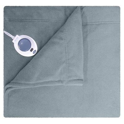 SoftHeat™ Micro Fleece Warming Blanket - Gray (Queen)