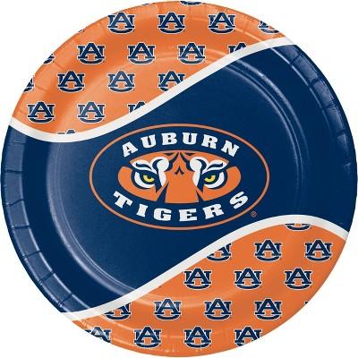8ct Auburn Tigers Paper Plates