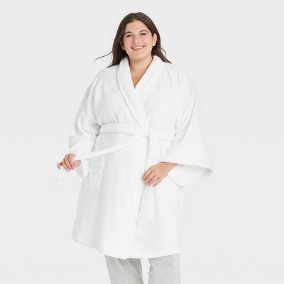 Women's Plus Size Cozy Robe - Stars Above™ White 3X-4X