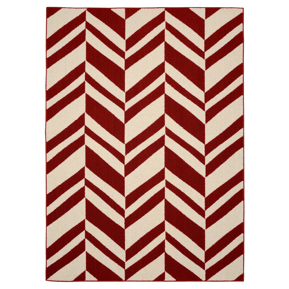 Garland Chelsea Area Rug - Crimson/Ivory (Red/Ivory) (5'X7')