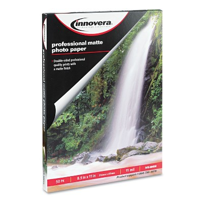 Innovera Heavyweight Photo Paper Matte 8-1/2 x 11 50 Sheets/Pack 99650