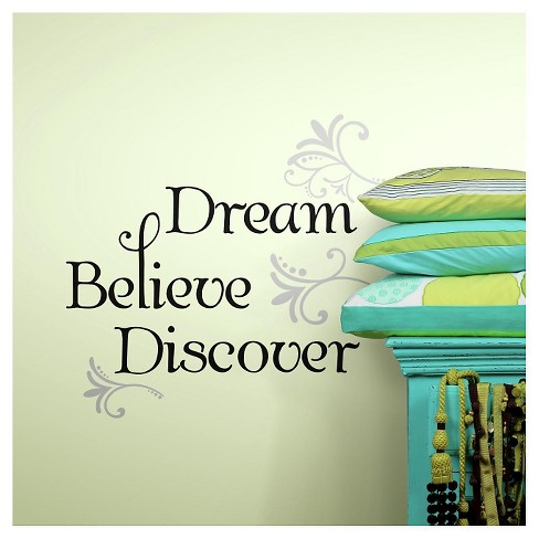 RoomMates Dream Believe Discover Peel & Stick Wall Decals - image 1 of 1