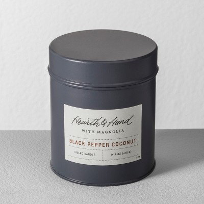 Tin Candle Black Pepper Coconut - Hearth & Hand™ with Magnolia