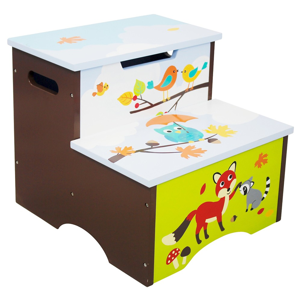 Image of Enchanted Woodland Step Stool Wood - Teamson