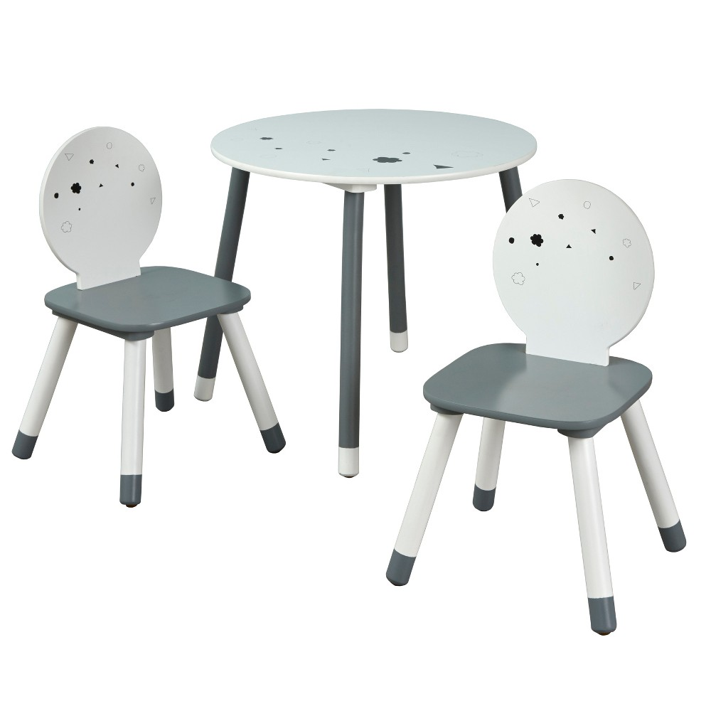 Image of 3pc Talori Kids' Table and Chair Set Gray/White - Buylateral, White Gray