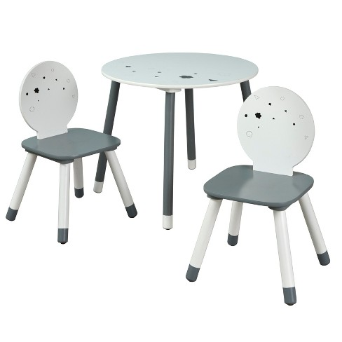 Tremendous 3Pc Talori Kids Table And Chair Set Gray White Buylateral Dailytribune Chair Design For Home Dailytribuneorg
