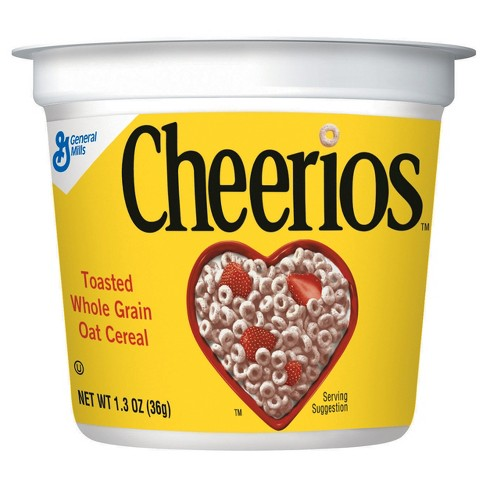 Cheerios Cup Breakfast Cereal - 1.3oz - General Mills - image 1 of 4