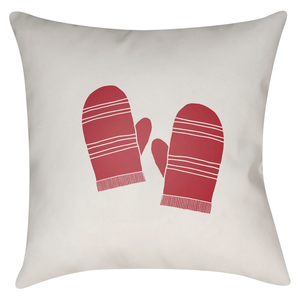 Red Mittens Throw Pillow 16