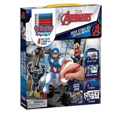 Drawmaster Marvel Avengers: Captain America Super Stencil Kit - (Mixed Media Product)
