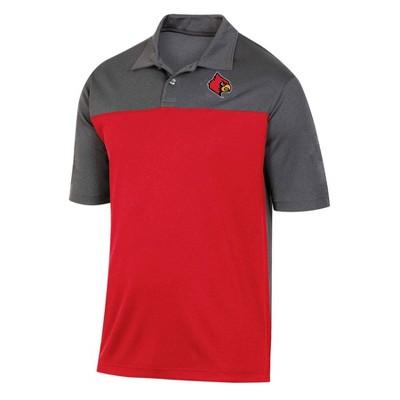 NCAA Louisville Cardinals Men's Short Sleeve Polo Shirt