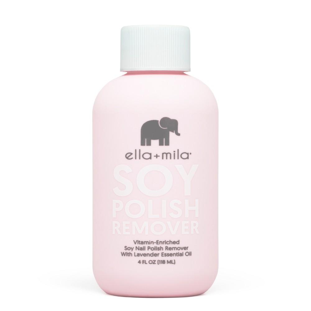 Ella + Mila Soy Nail Polish Remover - 4 fl oz, Clear