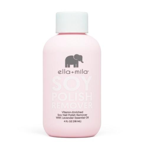 Ella + Mila Soy Nail Polish Remover - 4 Fl Oz : Target