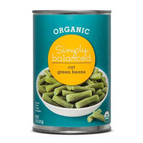 Organic Cut Green Beans - 14.5oz - Simply Balanced™ - image 1 of 1