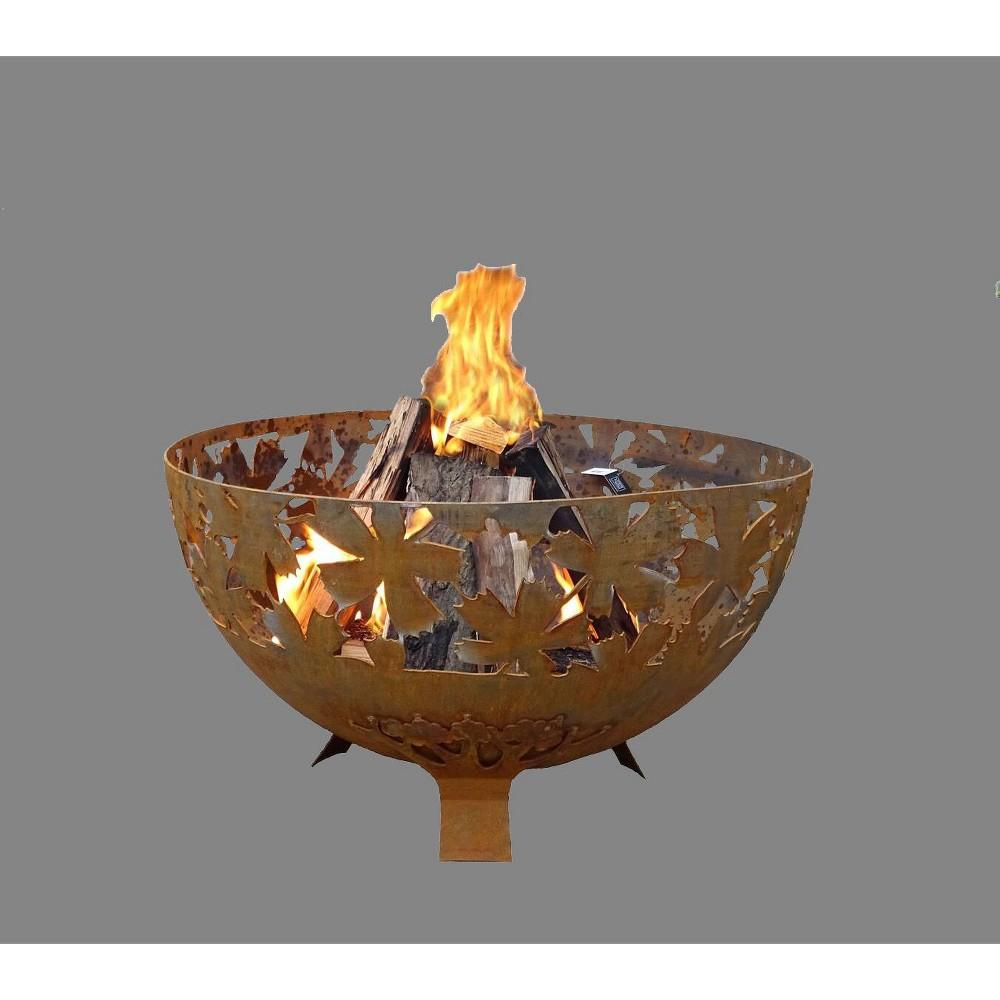 Large Laser Cut Leaf Fire Bowl Esschert Design