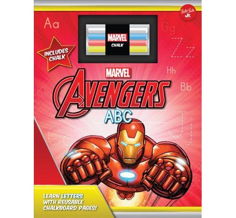 Marvel'Avengers Chalkboard ABC : Learn Letters With Reusable Chalkboard Pages! (Hardcover) - image 1 of 1