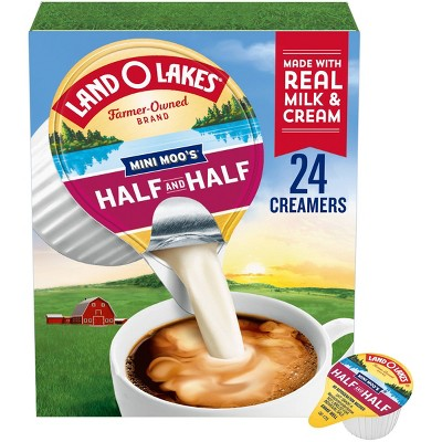 Land O' Lakes Mini Moo's Half & Half Coffee Creamer - 24ct