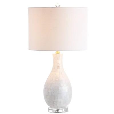 "26.5"" Josephine Seashell Table Lamp (Includes LED Light Bulb) White - JONATHAN Y"