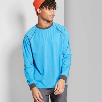 Men's Casual Fit Long Sleeve Raglan T-Shirt - Original Use™ Brilliant Blue XL
