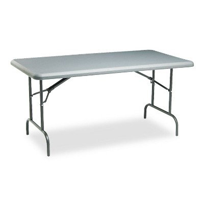 Iceberg IndestrucTables Too 1200 Series Resin Folding Table 60w x 30d x 29h Charcoal 65217