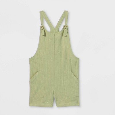 Girls' Woven Sleeveless Romper - art class™ Green