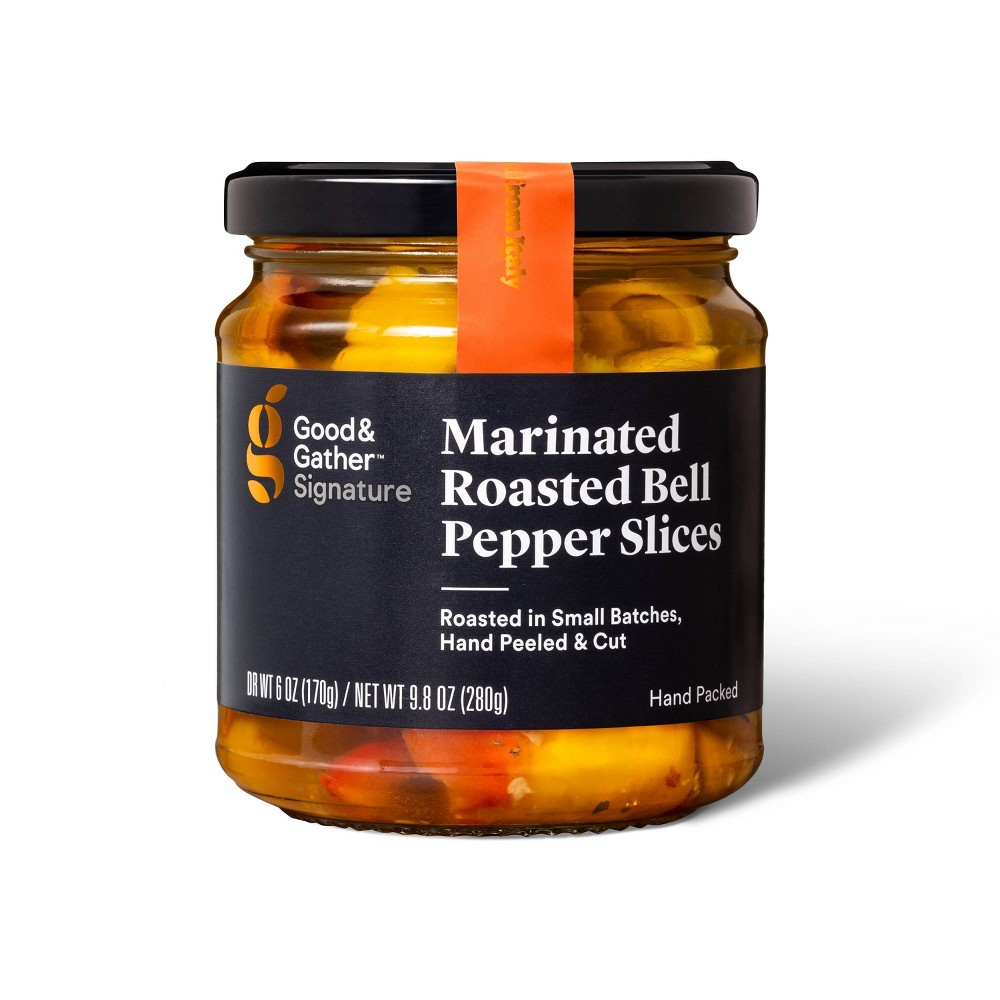 Signature Marinated Roasted Bell Pepper Strips 9 8oz Good 38 Gather 8482