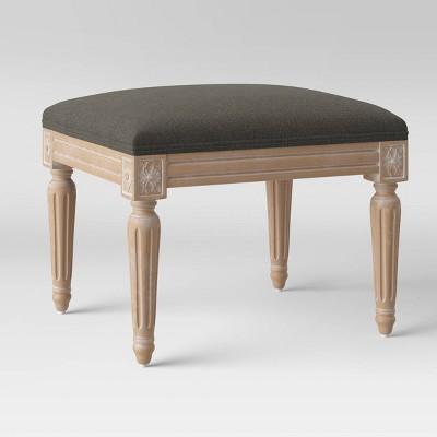 Erwin Turned Wood Leg Ottoman - Threshold™ : Target