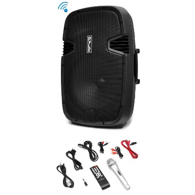 Pyle PPHP122BMU 800W Portable Bluetooth PA DJ Loudspeaker Speaker + Accessories