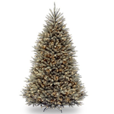 7.5ft National Christmas Tree Company Dunhill Blue Fir Hinged Full Artificial Christmas Tree with 750 Clear Lights