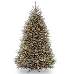 National Tree Company 7.5ft Dunhill Blue Fir Hinged Full Artificial Tree with 750 Clear Lights