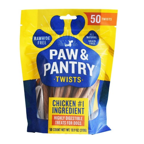 Paw & Pantry Chicken Twists Dog Treats - 50pk - image 1 of 4