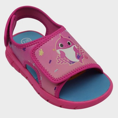 Toddler Girls' Nick Jr. Baby Shark Ankle Strap Sandals - Pink