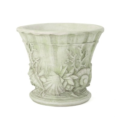 "15"" Guava Cast Stone Urn Planter - Christopher Knight Home"