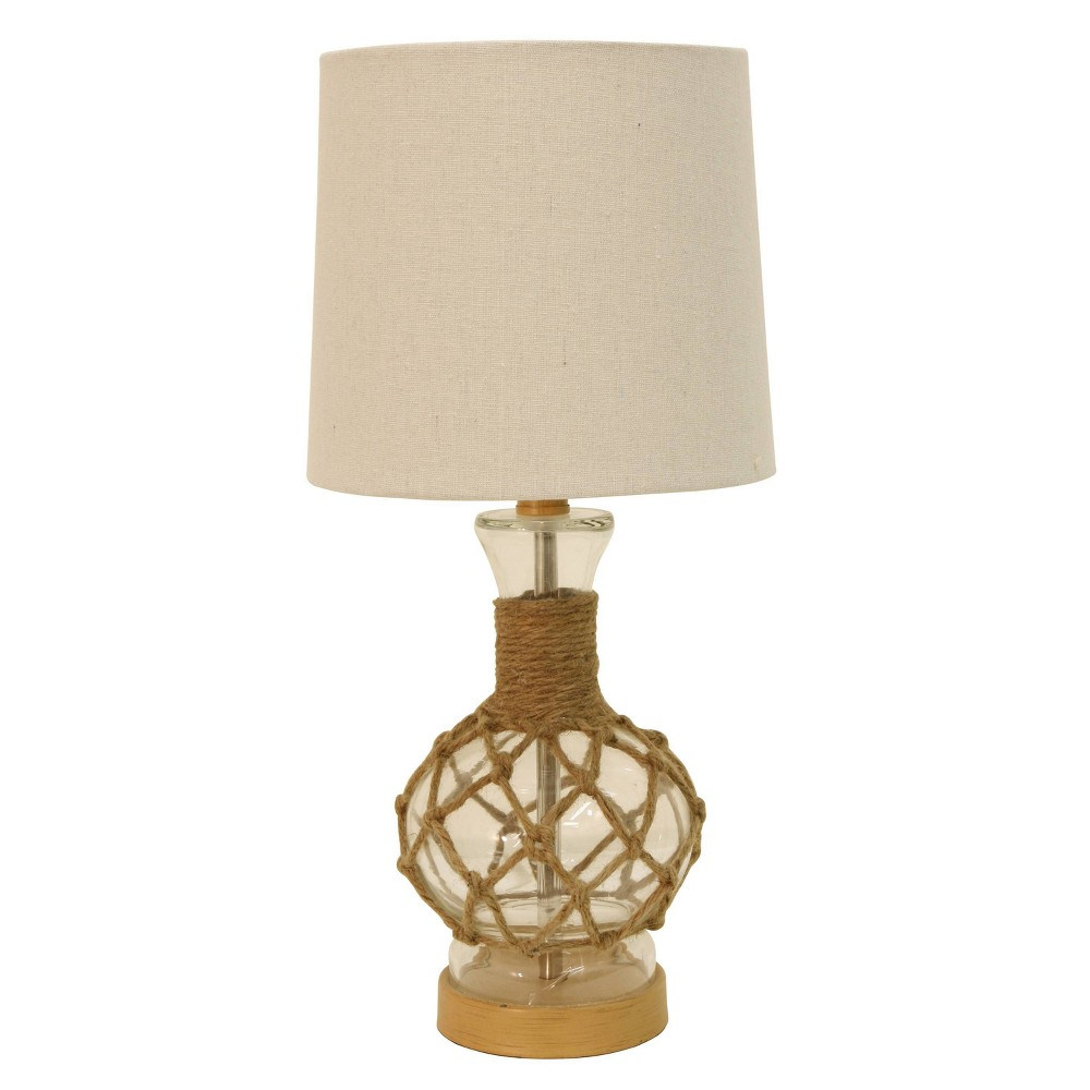14 5 34 Justin Coastal Rope Lamp Clear Decor Therapy