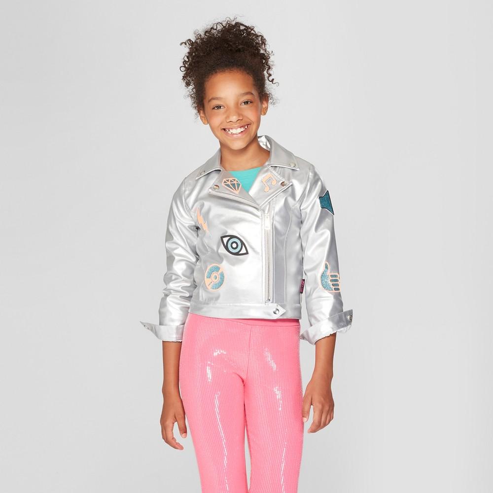 Girls' Nickelodeon JoJo's Closet Moto Jacket - Silver XS