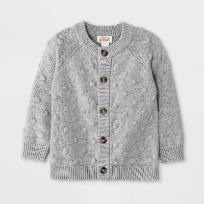 Baby Bobble Sweater Cardigan - Cat & Jack™ Heather Gray