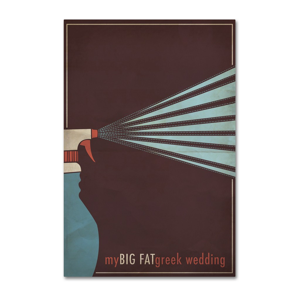 'My Big Fat Greek Wedding' by Megan Romo Ready to Hang Canvas Wall Art was $40.49 now $32.39 (20.0% off)