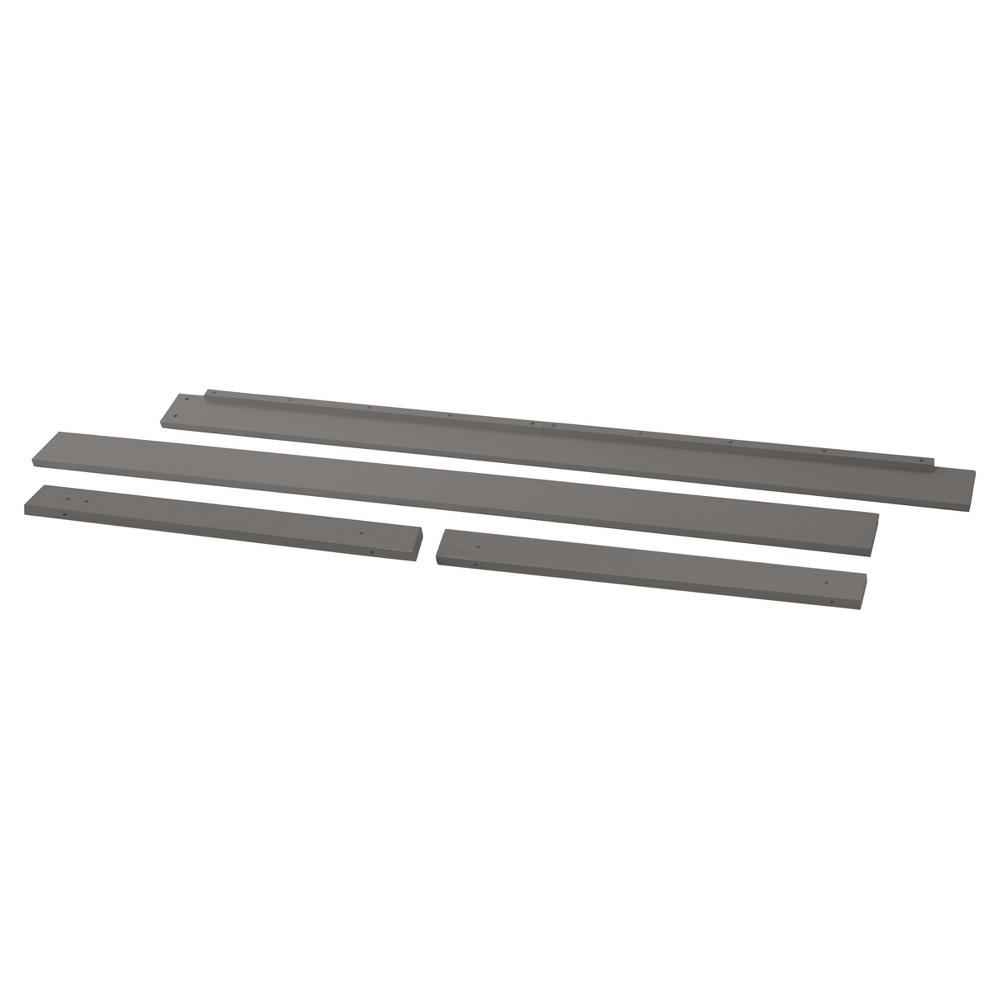 DaVinci Full Size Bed Conversion Kit for Piedmont Combo - Slate (Grey)