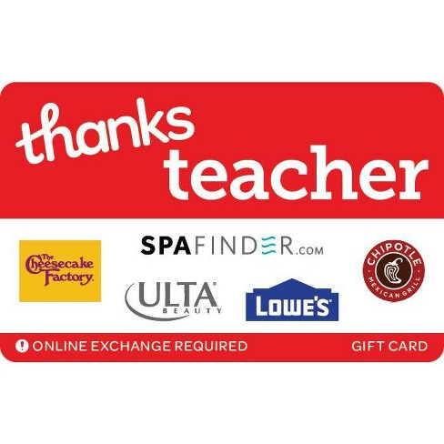 Thanks Teacher Gift Card (Email Delivery) - image 1 of 1