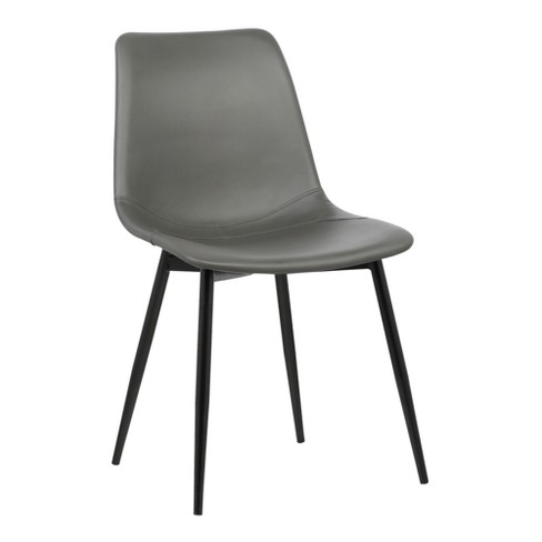 Monte Contemporary Dining Chair In Gray Faux Leathe Target