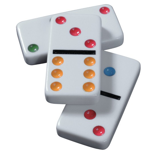 Game Gallery Double 6 Color Dot Dominoes, Adult Unisex image number null