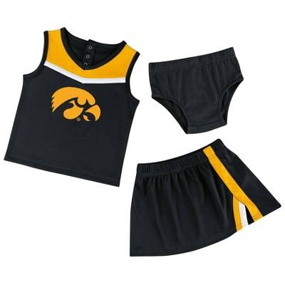 NCAA Iowa Hawkeyes Toddler Girls' 3pc Cheer Set